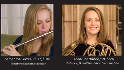 Winners of the 2016 Concerto Competition