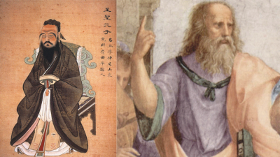 Illustrations of Confuscious and Plato
