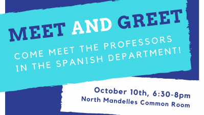 Meet and Greet the Spanish Department Professors