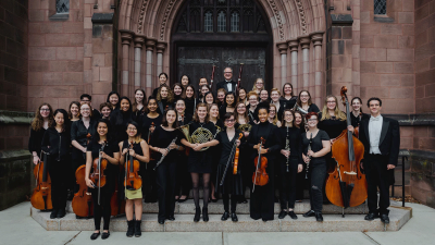 Photo of the 2018-2019 Mount Holyoke Symphony Orchestra