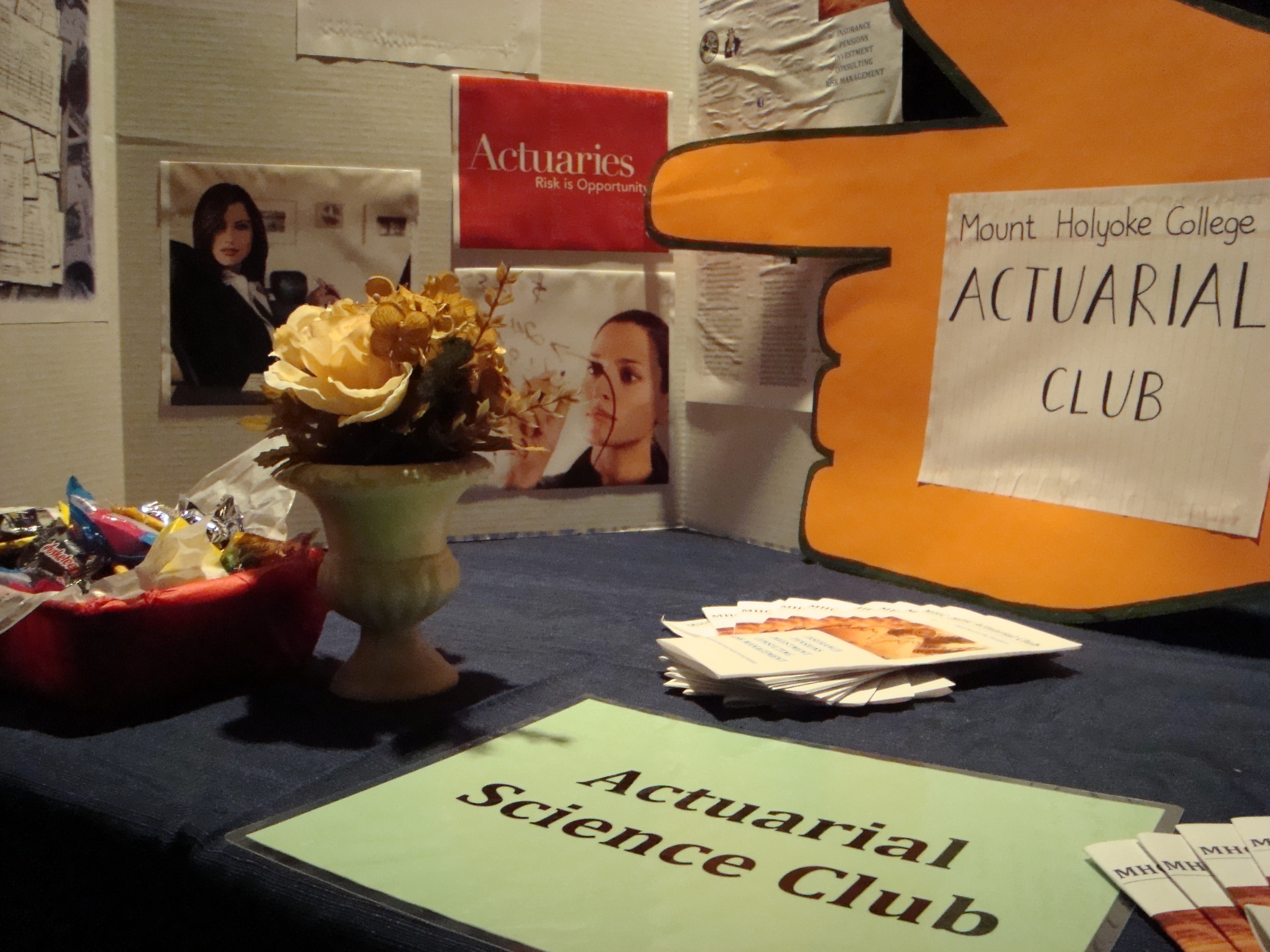 The Actuarial Club is not currently active, but if you're interested in an actuarial career or in getting together with other students to activate the club, please contact any Statistics faculty member.
