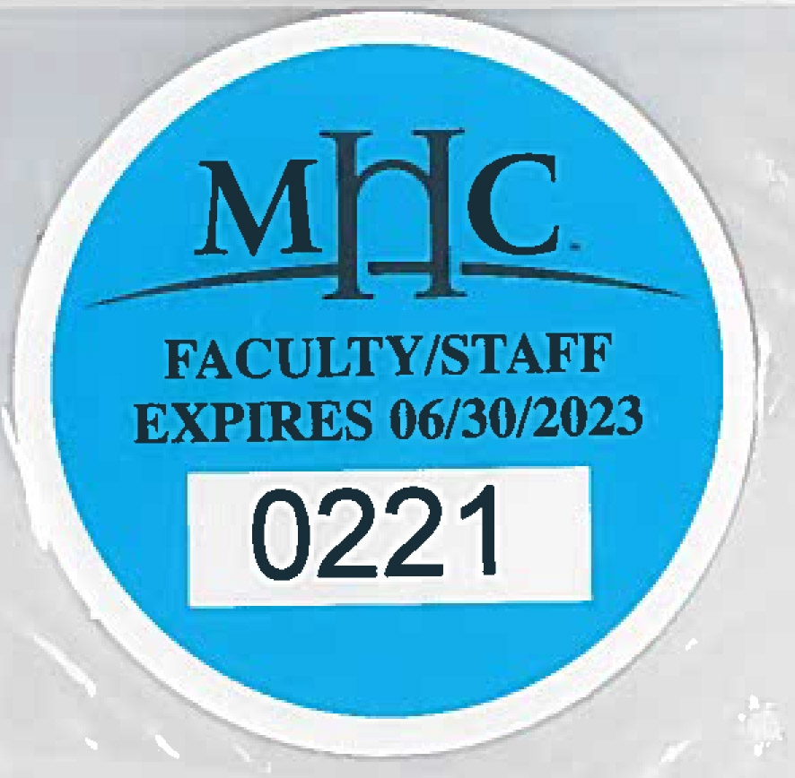 Parking Decal until 2023