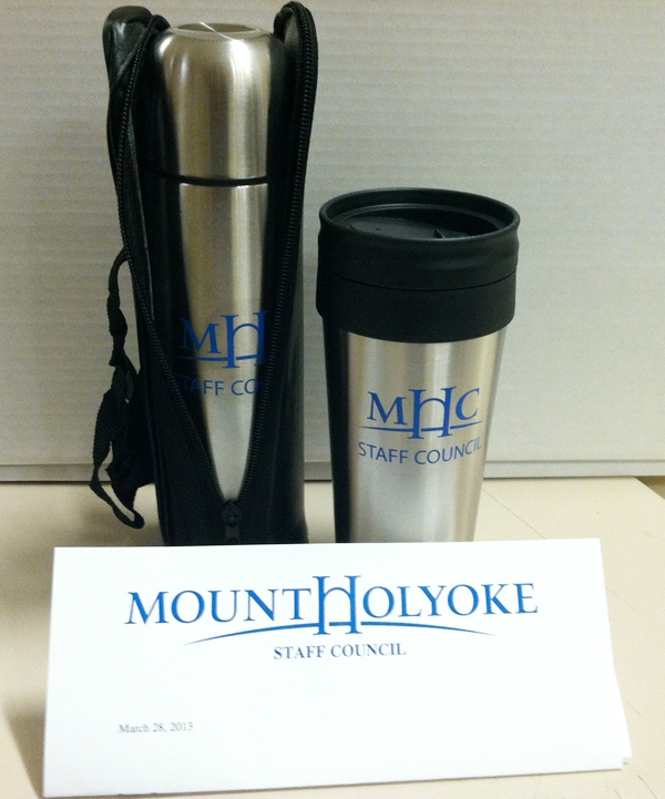 prize awarded was a travel mug and thermos with travel case