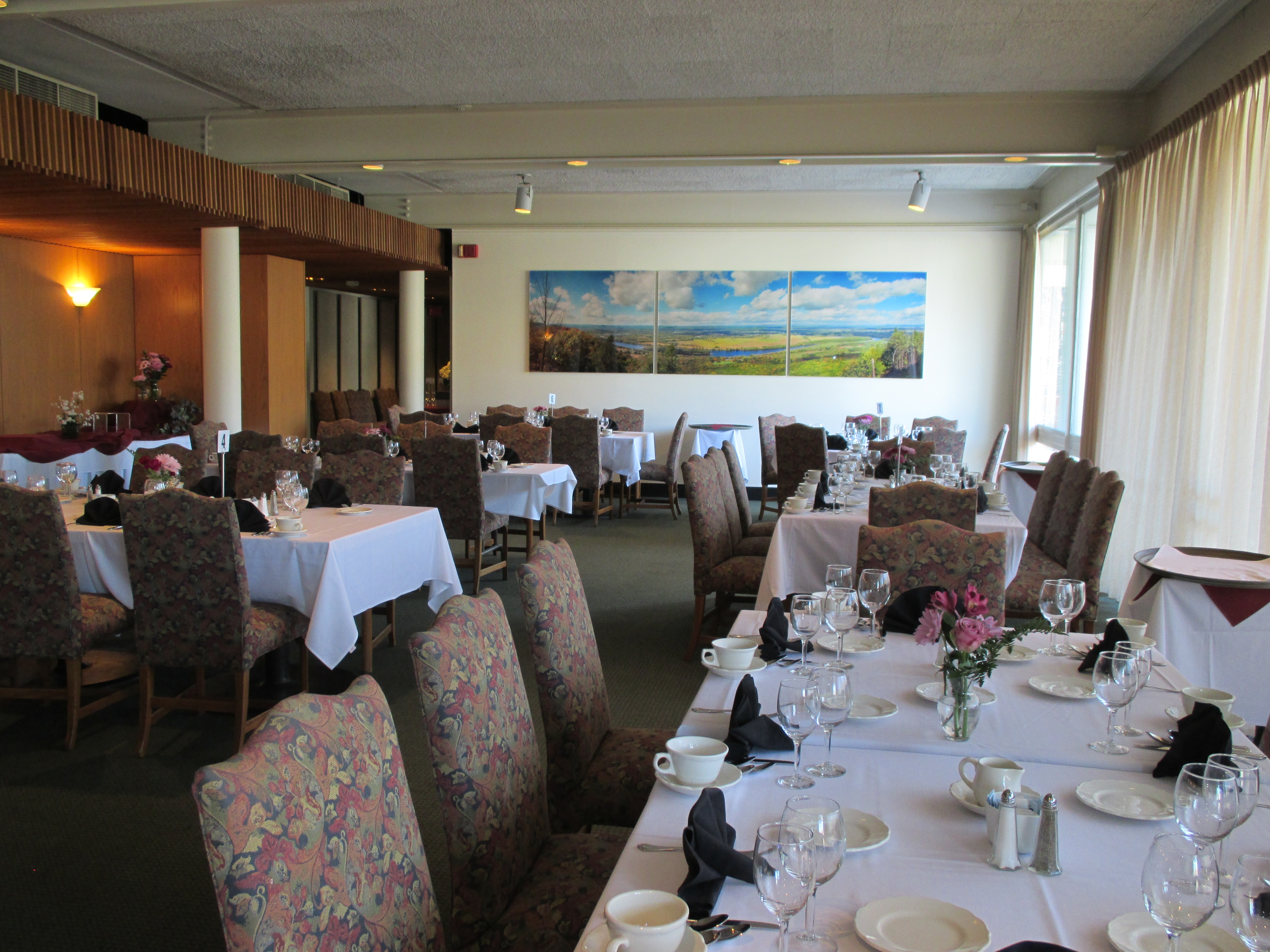 The Willits-Hallowell Center, a banquet room