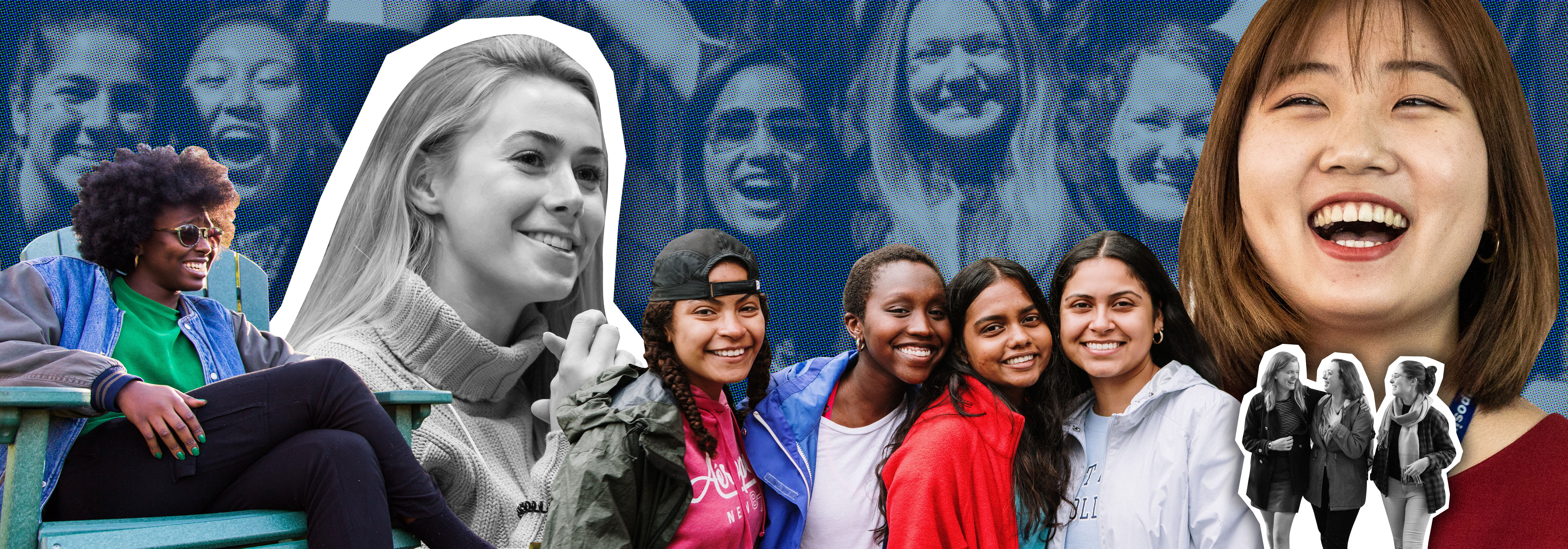 Montage photo of students