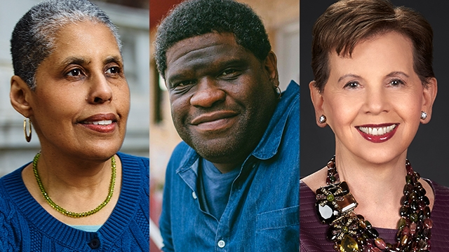 Speakers at the 2019 Commencement were Barbara Smith '69, Gary Younge and Adrienne Arsht '63.