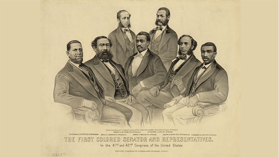 The first colored senator and representatives - in the 41st and 42nd Congress of the United States