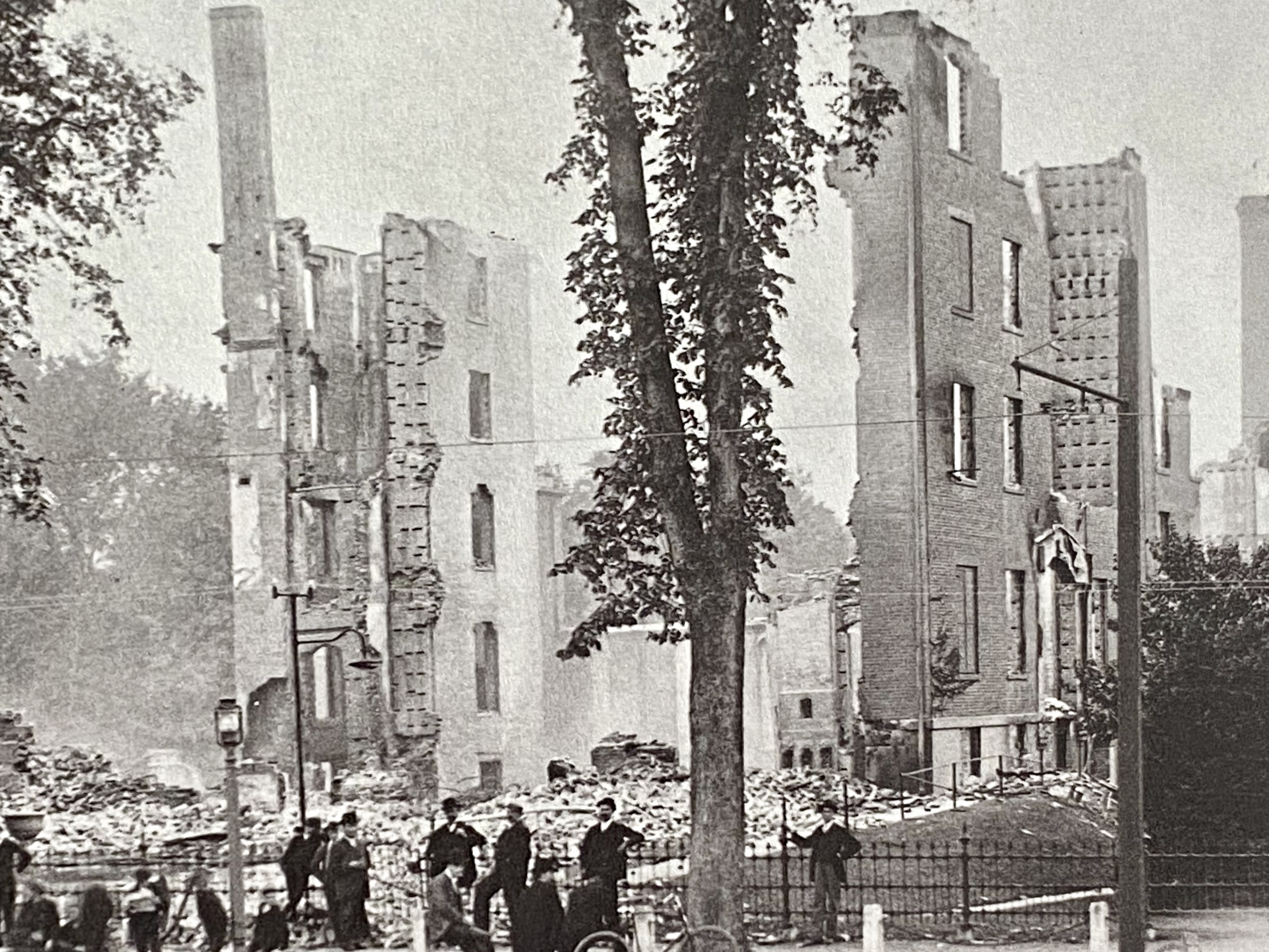 The remains of a building destroyed by the 1896 fire.