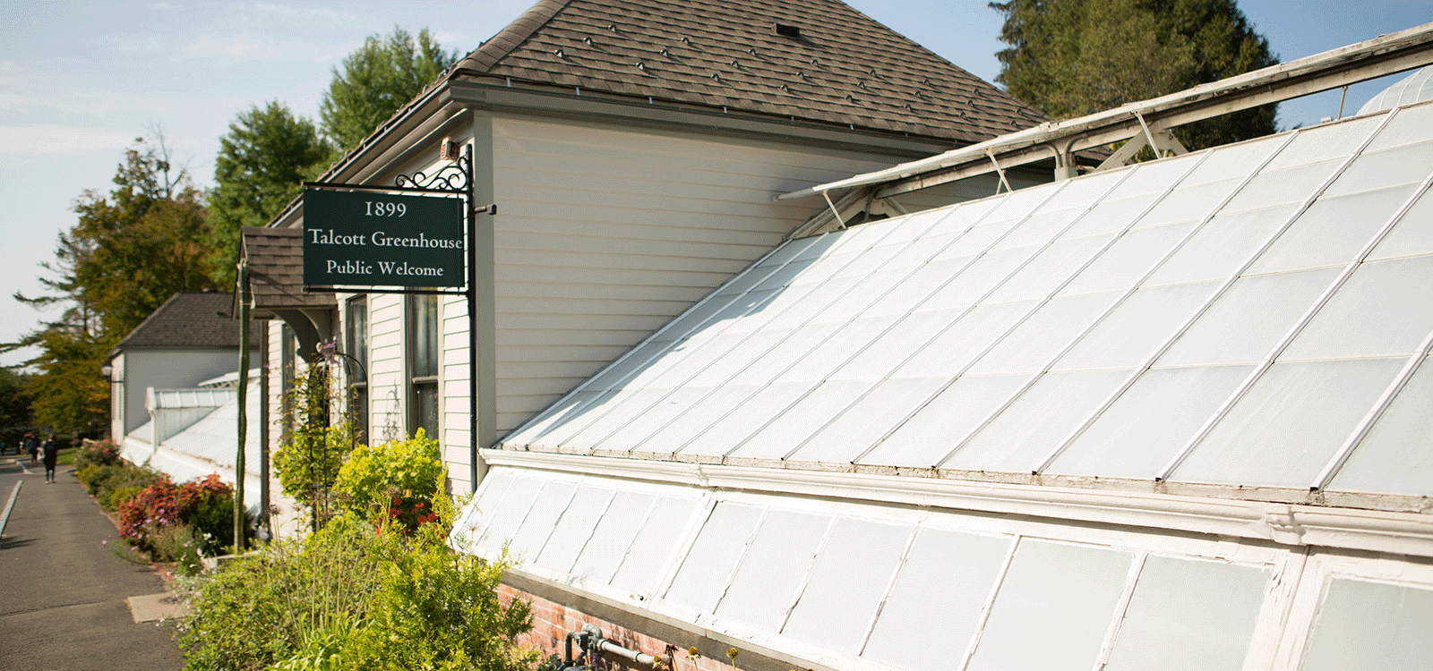 Photo of the exterior of Talcot Greenhouse