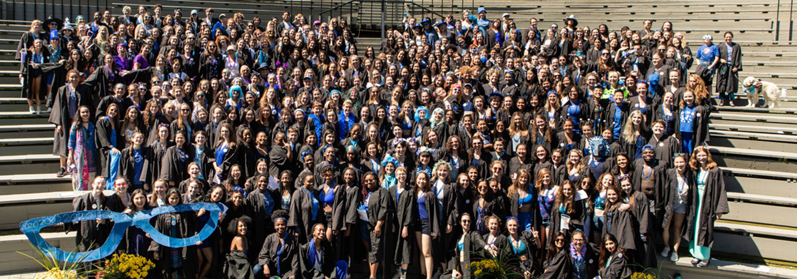 The class of 2020 in the ampitheater following Convocation in September, 2019