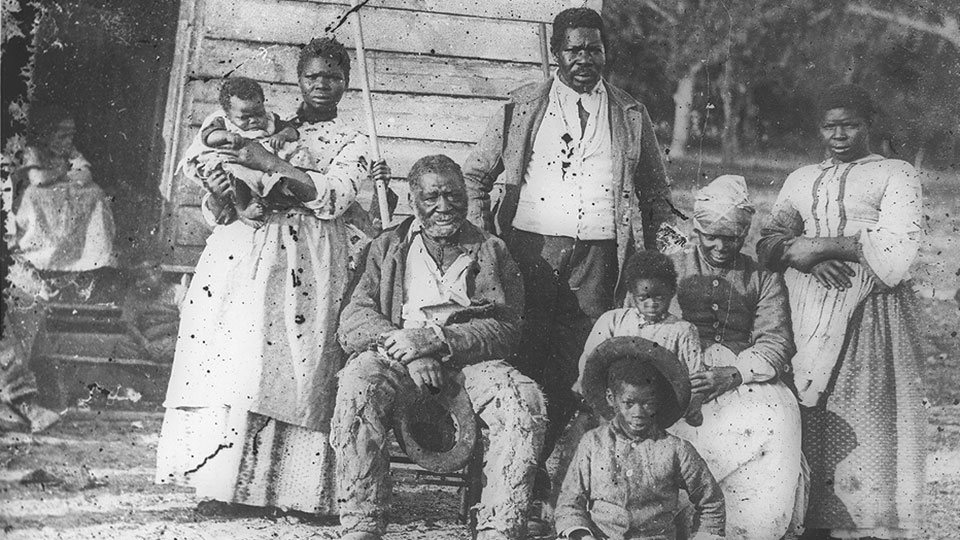 Black Family, Beaufort, South Carolina, 1862