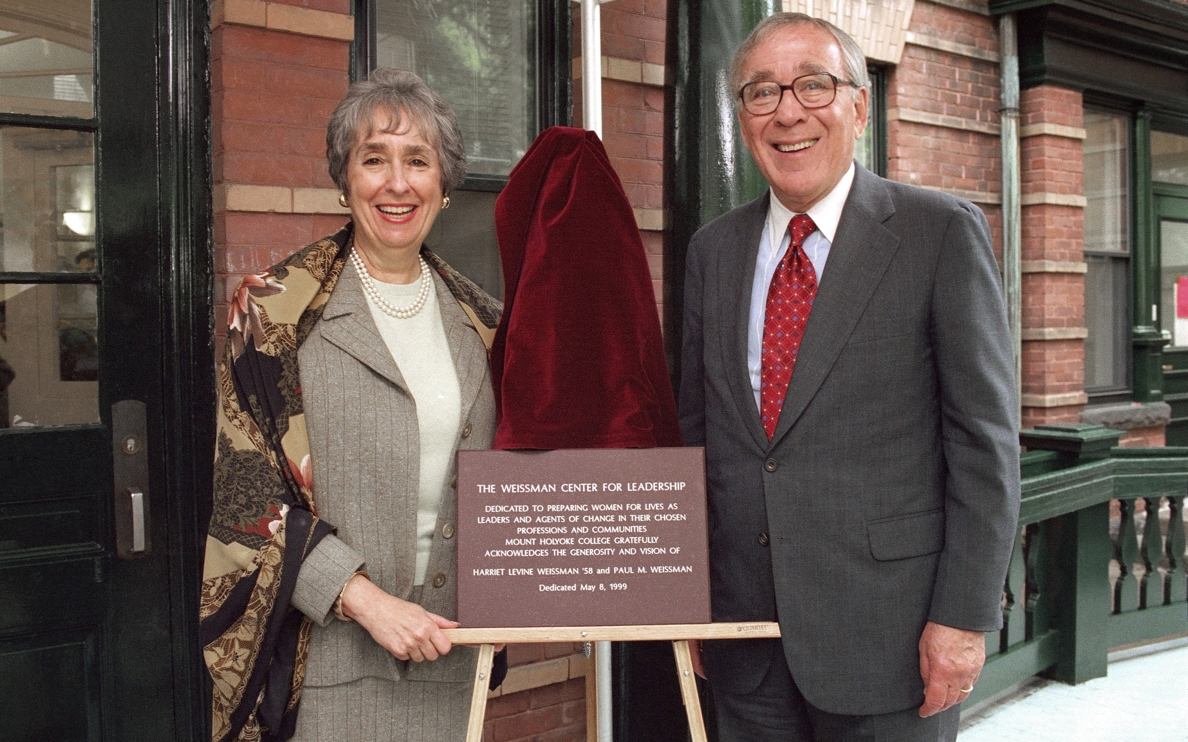 Harriet and Paul Weissman at the dedication