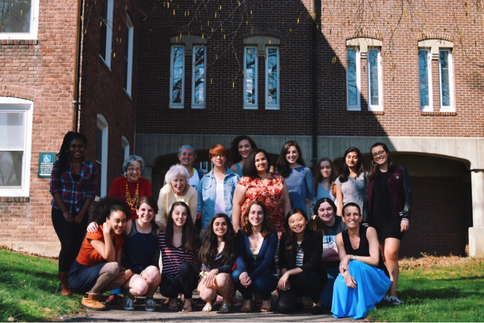 Professor Frau and her students, April 2016.