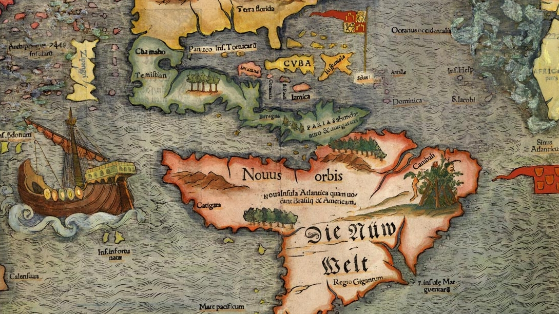 sebastian muenster map of the new world 1540
