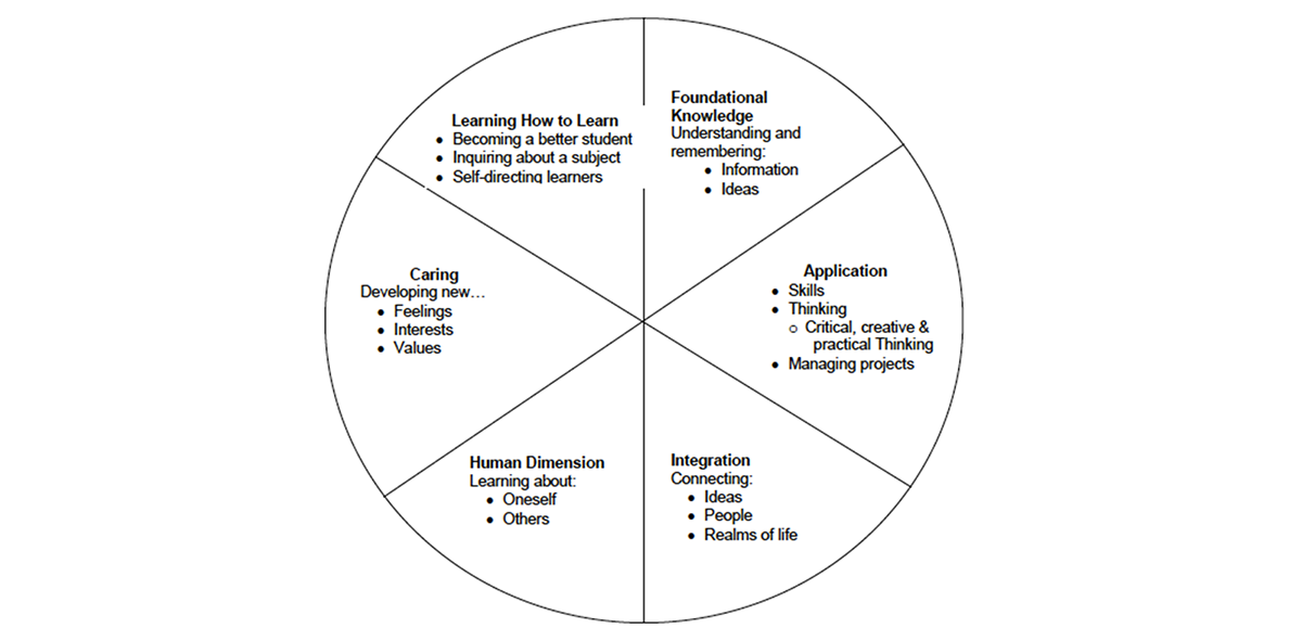 Chart: Taxonomy of Significant Learning