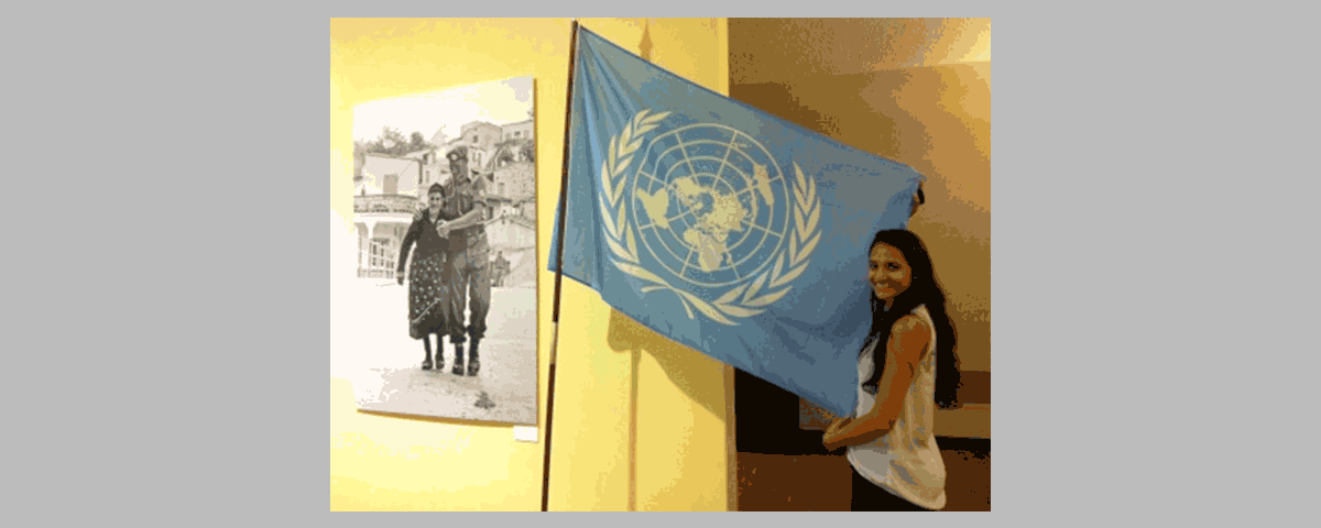 Photo of MHC intern at UNICEF in New York
