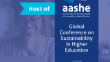 AASHE's Global Conference on Sustainability in Higher Education will stream live October 12–14, 2021.