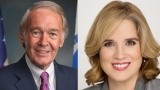 Ed Markey and Carmen Yulín Cruz smiling into the camera