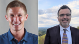 Eric Schildge MAT'19, assistant director for outreach at the Master of Arts in Teaching, Teacher Leadership, and Michael Lawrence-Riddell MATL'21 present a three-part online workshop on how to talk to students about the election.