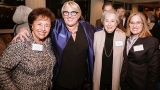 (From left) Congresswoman Nita Lowey '59; President Sonya Stephens; Weissman Center for Leadership founder, Harriet Weissman '58, whose vision and support inspired the creation of the center; and Mayor Carmen Yulín Cruz celebrate the Weissman Center's 20t