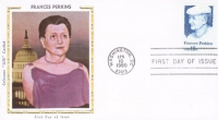 Frances Perkins postcard