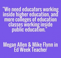 Partnerships between teacher education and public schools