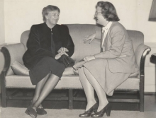 SGA President Ruth Gill (1946) with Eleanor Roosevelt