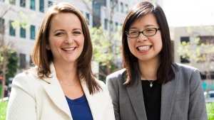 Amy Norman '95 (left) and Stella Ma, co-CEOs of Little Passports.