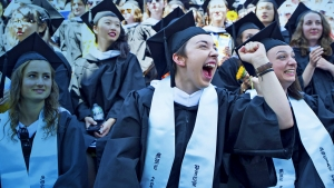 Image of students celebrating Commencement