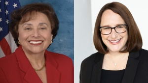 Public servants and alums Nita Lowey '59 and Deborah Frank Feinen '89 have been putting in long hours to protect their communities from the COVID-19 pandemic.