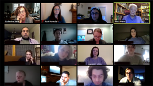 This is a screenshot of a Zoom class with author Sonia Nieto and 15 other participants.