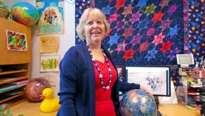 This is a photograph of Darby Dyar in her office