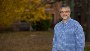 """This is a photograph of V.S. """"Raghu"""" Raghavan. Raghavan was appointed associate director of the Miller Worley Center for the Environment and director of sustainability at Mount Holyoke College."""