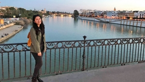 Vanessa Rodriguez '18, a first-generation college student, spent her spring semester junior year in Spain, where she studied journalism, practiced her Spanish and worked in an impoverished community.