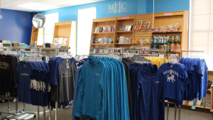 Photo of spiritwear at the Odyssey bookstore