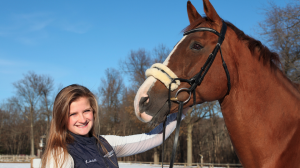 Lexi Lobdell '20 and Baltazar (aka Butters) the horse