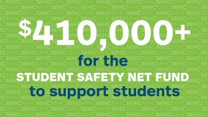 Infographic: $410,000+ for the Student Safety Net fund to support students
