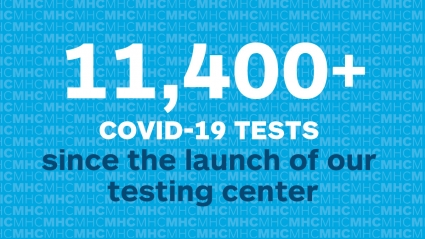 Infographic: 11,400+ COVID-19 tests since the launch of our testing center