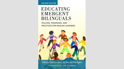 Second Edition. Educating Emergent Bilinguals book cover with a circle of people holding hands.