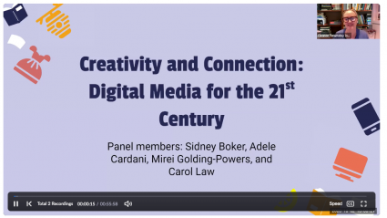 Eleanor Townsley moderated a panel on digital media.