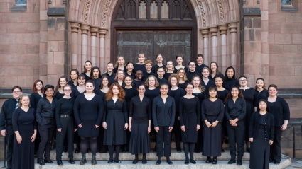 A group shot of MHC's 2019-2020 Glee Club