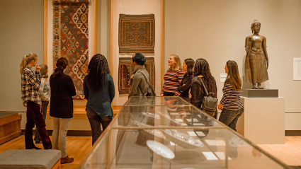 A gallery in the Mount Holyoke College Art Museum