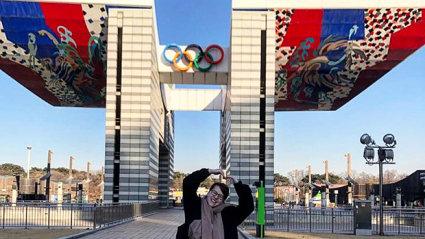 South Korea Reflections in front of the Olympics