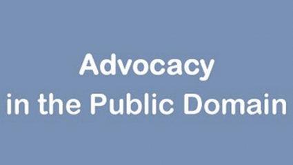 Graphic for Advocacy in the Public Domain series