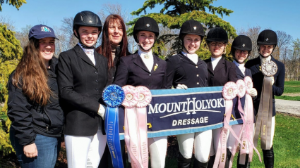Lexi Lobdell '20 with the dressage team at the IDA Nationals, 2019