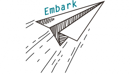 Embark logo (a paper airplane)