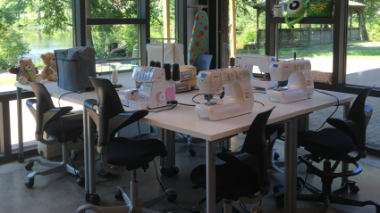 Fimbel Lab sewing station