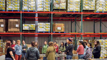 Students at The Food Bank of Western Massachusetts