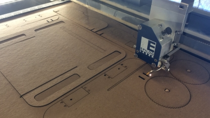 Photo of the laser cutter in the Makerspace