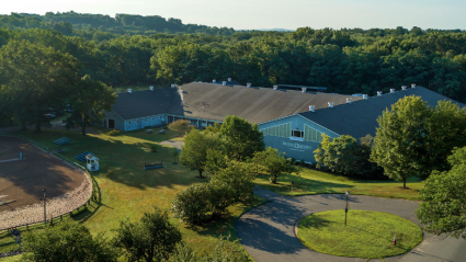 Aeiral view of the Mount Holyoke College Equeestrian Center